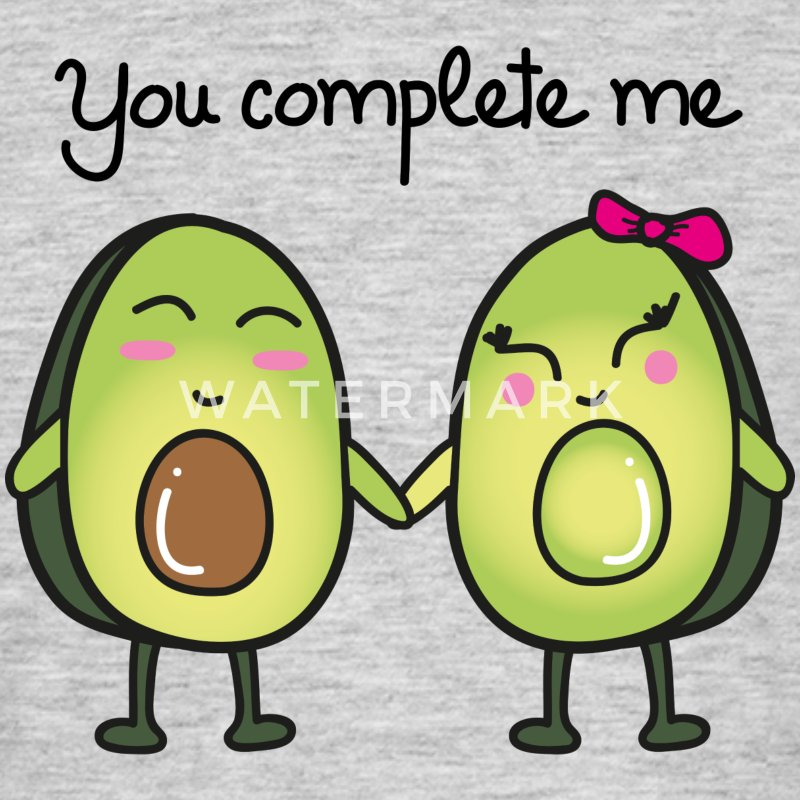You Complete Me (Avocado) T-Shirts - Männer T-Shirt