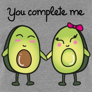 You Complete Me (Avocado) T-skjorter - Premium T-skjorte for kvinner