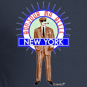Bonjour ma belle New York by Francisco Evans ™ - Männer Slim Fit T-Shirt