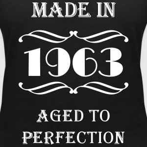 Made in 1963 T-shirts - T-shirt med v-ringning dam