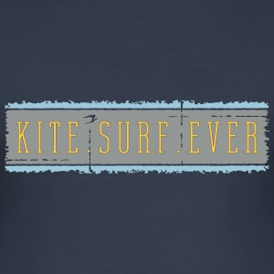 kitesurfever_vec_3 en T-Shirts - Men's Slim Fit T-Shirt