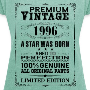 PREMIUM VINTAGE 1996 T-Shirts - Women's T-shirt with rolled up sleeves