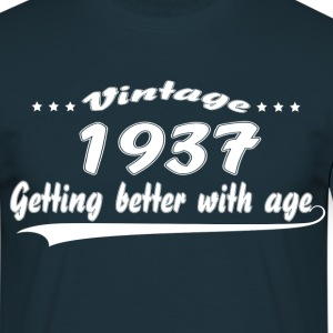 Vintage 1937 Getting Better With Age T-Shirts - Men's T-Shirt