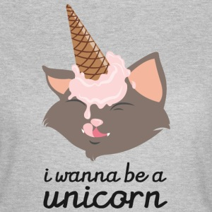 I Wanna Be A Unicorn (Cat With Ice Cream Cone) Tee shirts - T-shirt Femme