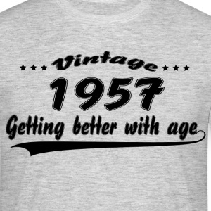 Vintage 1957 Getting Better With Age T-Shirts - Men's T-Shirt