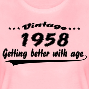 Vintage 1958 Getting Better With Age T-Shirts - Women's Premium T-Shirt