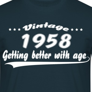 Vintage 1958 Getting Better With Age T-Shirts - Men's T-Shirt