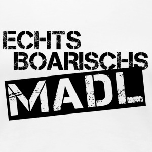 Echts Boarischs Madl - black - Frauen Premium T-Shirt