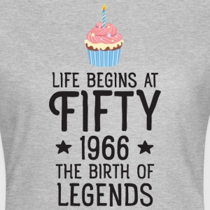 Life Begins AT Fifty...(Cupcake) T-Shirts - Women's T-Shirt
