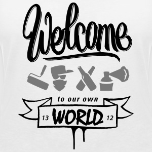 welcome to vandals world T-Shirts - Frauen T-Shirt mit V-Ausschnitt