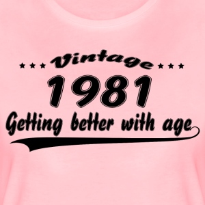 Vintage 1981 Getting Better With Age T-Shirts - Women's Premium T-Shirt