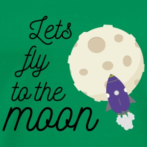 fly to the moon T-Shirts - Men's Premium T-Shirt