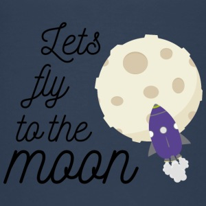 fly to the moon T-Shirts - Kinder Premium T-Shirt