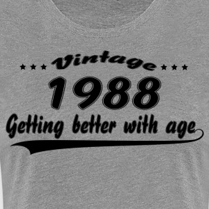 Vintage 1988 Getting Better With Age T-Shirts - Women's Premium T-Shirt