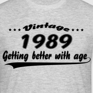 Vintage 1989 Getting Better With Age T-Shirts - Men's T-Shirt
