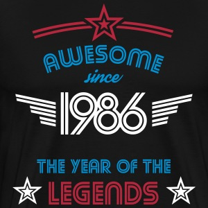 Awesome since 1986 T-Shirts - Men's Premium T-Shirt