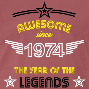 Awesome since 1974 T-Shirts - Männer Premium T-Shirt