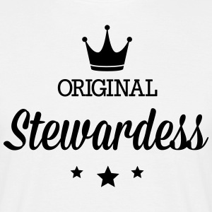 Original three star deluxe stewardess T-Shirts - Men's T-Shirt