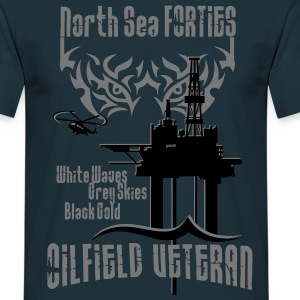 Forties Oil Rig Oil Field Platform T-Shirts - Men's T-Shirt