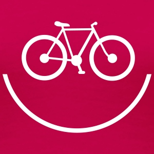 Smiley Bike – Frauen Premium T-Shirt (dh) - Frauen Premium T-Shirt