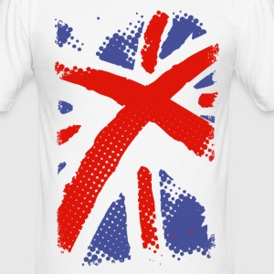 Union Jack grunge style Tee shirts - Tee shirt près du corps Homme