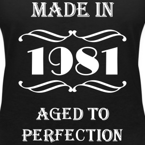 Made in 1981 T-shirts - T-shirt med v-ringning dam