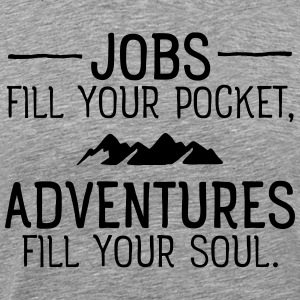 Jobs VS Adventures T-shirts - Premium-T-shirt herr