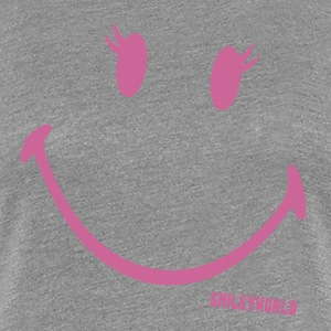 SmileyWorld Glitter Girl - Premium T-skjorte for kvinner