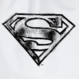 Superman S-Shield Logo black and white - Sportstaske