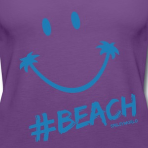 SmileyWorld Glitter Lets go to the #Beach - Premium singlet for kvinner