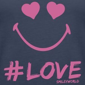 SmileyWorld Glitter I'm in #Love - Premium singlet for kvinner