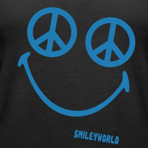 SmileyWorld Glitter Peace - Premium singlet for kvinner