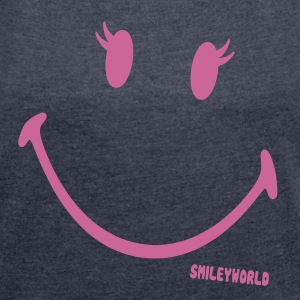 SmileyWorld Glitter Girl - Women's T-shirt with rolled up sleeves