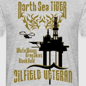 North Sea Oil Rig Oil Field Veteran T-Shirts - Men's T-Shirt