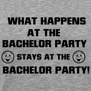 WHAT IS HAPPENING - IN THE BACHELOR PARTY SECRET! T-Shirts - Men's Premium T-Shirt