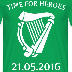 Time For Heroes Green/White - Men's T-Shirt