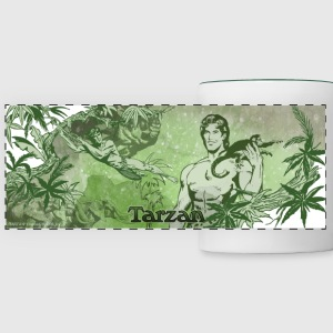 Tarzan with apes and liana - Panoramamok