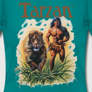 Tarzan running with a lion - T-skjorte for kvinner
