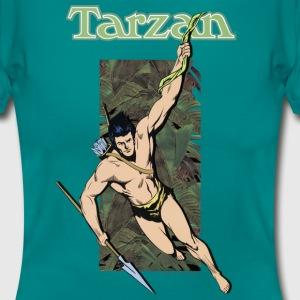 Tarzan with spear and liana - T-skjorte for kvinner