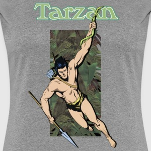 Tarzan with spear and liana - Premium T-skjorte for kvinner