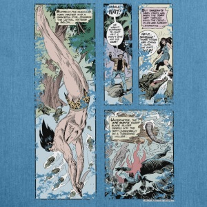 Tarzan and Stanly Comic - Skuldertaske af recycling-material