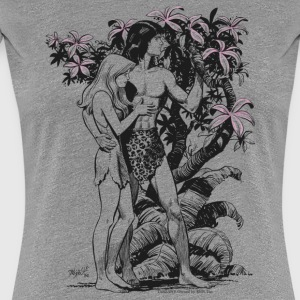 Tarzan and Jane - Premium-T-shirt dam