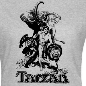 Tarzan with elephant, lion and apes - Women's T-Shirt