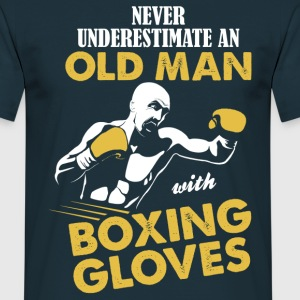 Never Underestimate An Old Man With Boxing Gloves T-Shirts - Men's T-Shirt