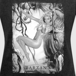 Tarzan 'Jane in the jungle' - Women's T-shirt with rolled up sleeves