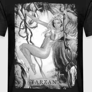 Tarzan 'Jane in the jungle' - Mannen T-shirt