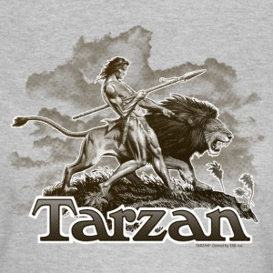 Tarzan and a wild lion - T-skjorte for kvinner