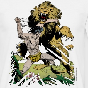Tarzan and a wild lion - Men's T-Shirt