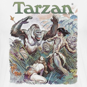 Tarzan and wild apes - Premium T-skjorte for menn