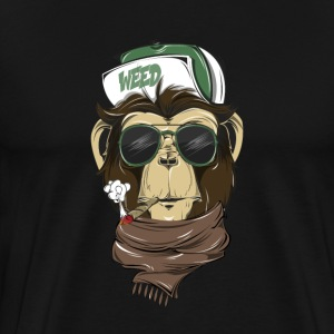 Cool Hipster Monkey tee - Men's Premium T-Shirt
